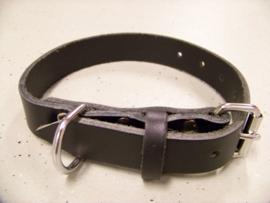 Single leather collar 3x60cm