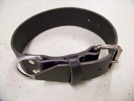 Single leather collar 5x60cm