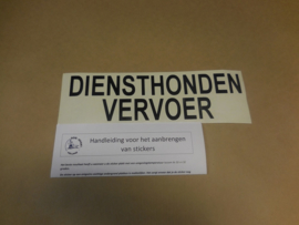 "Sticker ""diensthondenvervoer"""