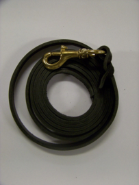 Leather leash 18mm x ca 2,20m brass hook