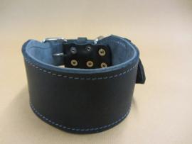 Double leather collar 8 x 60 cm