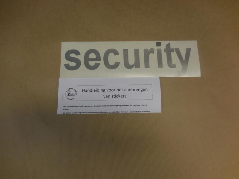 "Sticker ""security"""