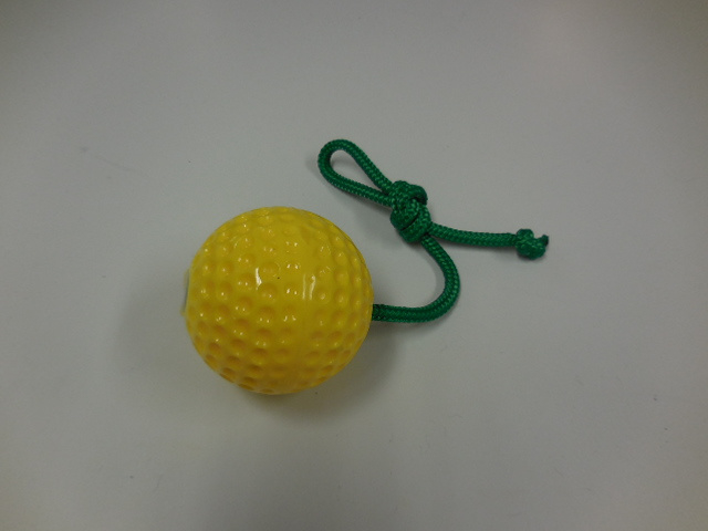Yellow ball with rope M