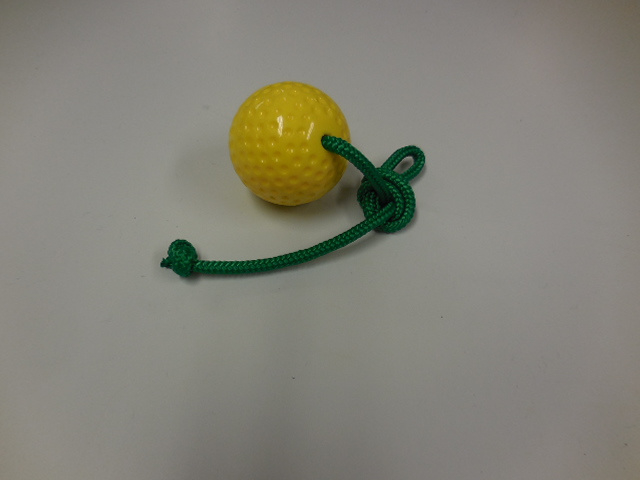 Yellow ball with rope S