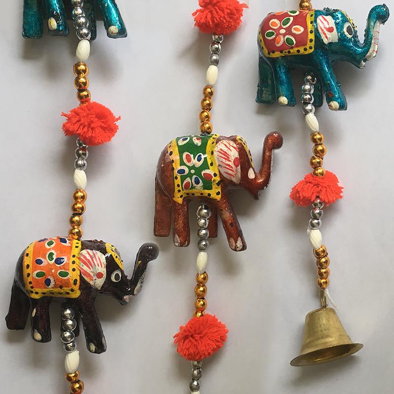 Houten olifanten slinger 140 cm lang