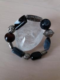 Armband zwarte Onyx Agaat