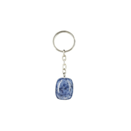 Sodaliet trommelsteen sleutelhanger / tassenhanger