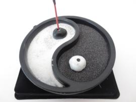 Wierookhouder Yin Yang zwart/wit