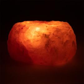 Zoutkristal sfeerlicht, 3 waxinelichtjes