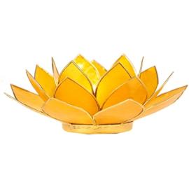 Lotus sfeerlicht geel (3e chakra) met goudrand