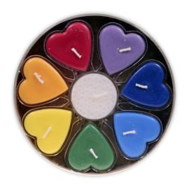 Stearine geurkaarsjes hartvormig Fair Trade, Chakra