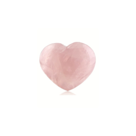 Rozenkwarts edelsteen hart ca. 2,5 cm