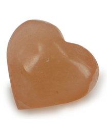 Oranje Seleniet hartvormige knuffelsteen