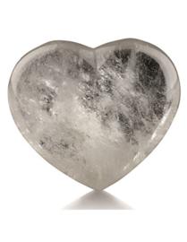 Bergkristal edelsteenhart, ca. 4,5 cm