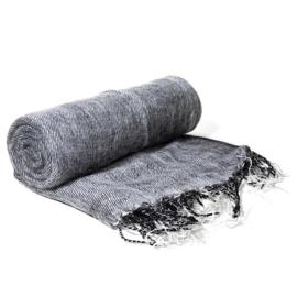 Meditatie omslagdoek effen grijs