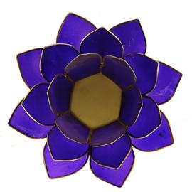 Lotus sfeerlicht indigo (6e chakra) met goudrand