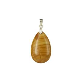 Jaspis Geel Druppel hanger