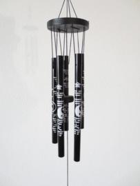 Windgong Yin Yang Zwart 40 cm