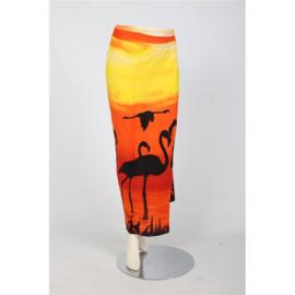 Sarong / Pareo Flamingo Oranje geel zwart