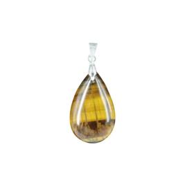 Drop of Tijgeroog edelsteenhanger