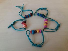 Armband Agaat in vrolijke kleuren