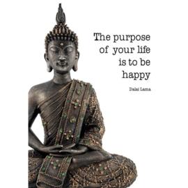 "Ansichtkaart ""The purpose of your life ....."", Dalai Lama"