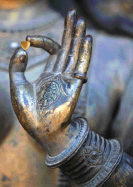 """Ansichtkaart """"From Buddha with Love"""""""