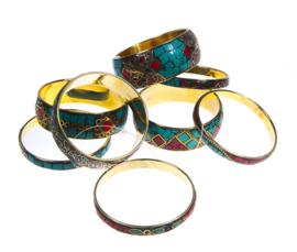 Armbanden set Navajo stijl met dikke en dunne armband