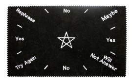 Pendelmat Pentagram zwart rechthoekig