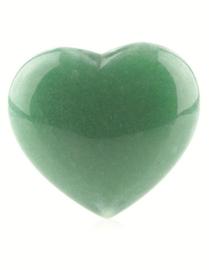 Aventurijn groen edelsteenhart, ca. 4,5 cm