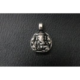 Ganesha hanger, 2 cm, zilverkleurig