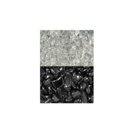 Ontlaad-  en oplaadset met Bergkristal & Hematiet