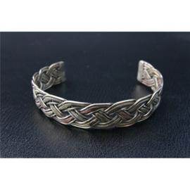 Armband Tibetaans Silver gevlochten, 3 soorten goudkleur