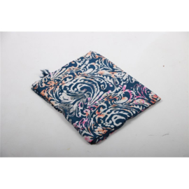 Sarong / Pareo, Donkerblauw, wit, roze, grijs
