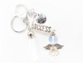 """Engel van Opaliet sleutelhanger """"Succes"""" (Tassenhanger)"""