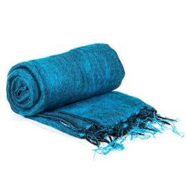 Meditatie omslagdoek aquablauw