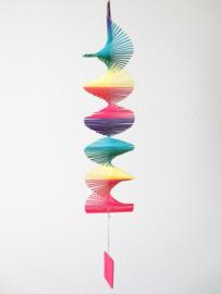 Twister van gekleurd bamboe, 50 cm lang