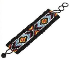 Indianen armband vlechtwerk van kralen - Cheyenne-Indianen