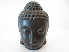 Boeddhahoofd zwart aromabrander / oliebrander