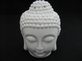 Boeddha hoofd wit oliebrander / aromabrander