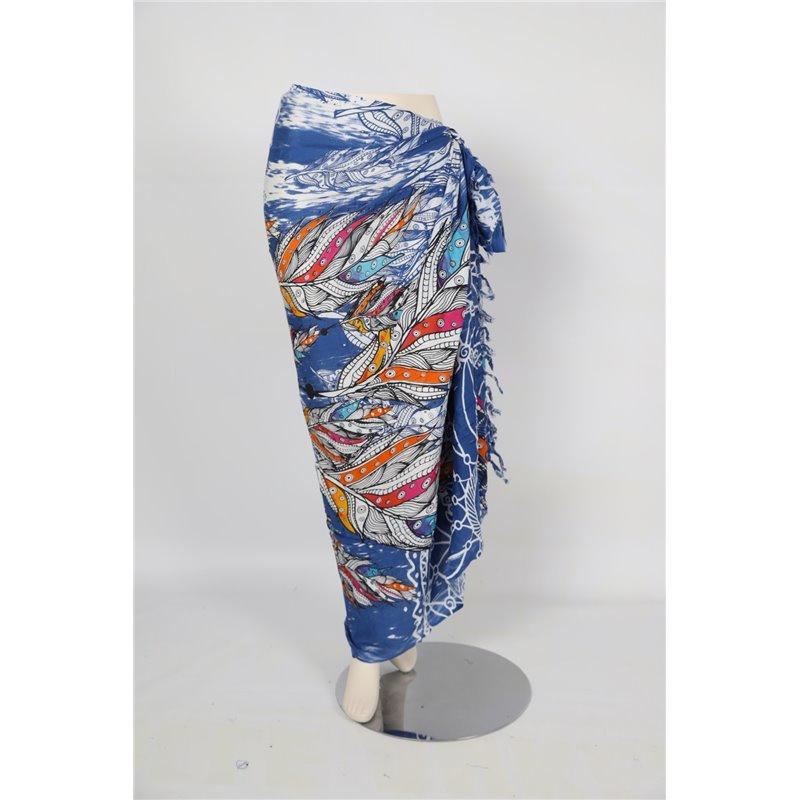 Sarong / Pareo Veren Blauw wit rood oranje