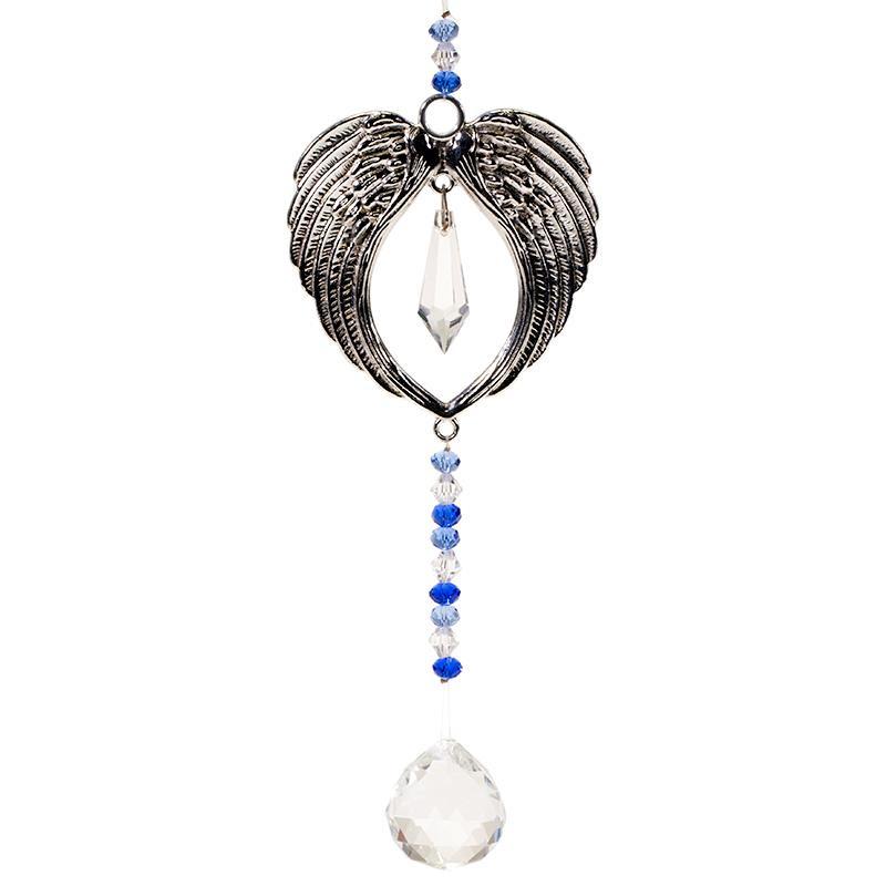 Feng Shui Raamhanger met engelenvleugels en kristallen bal