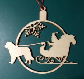 Christmas tree ornament with sleigh