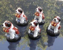 st. bernard christmas ornament