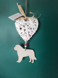 saint Bernard love decoration pendant