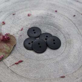 Zwart Classic Matte - knoopjes 15 mm