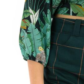 Thin Grid XL Green Gables - katoencanvas gabardine twill stof