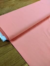 Uni Koraal - tricot stof