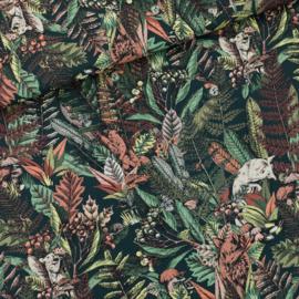 Autumn Joy Forest River - gabardine twill katoen
