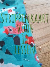 Strippenkaart voor 10 lessen